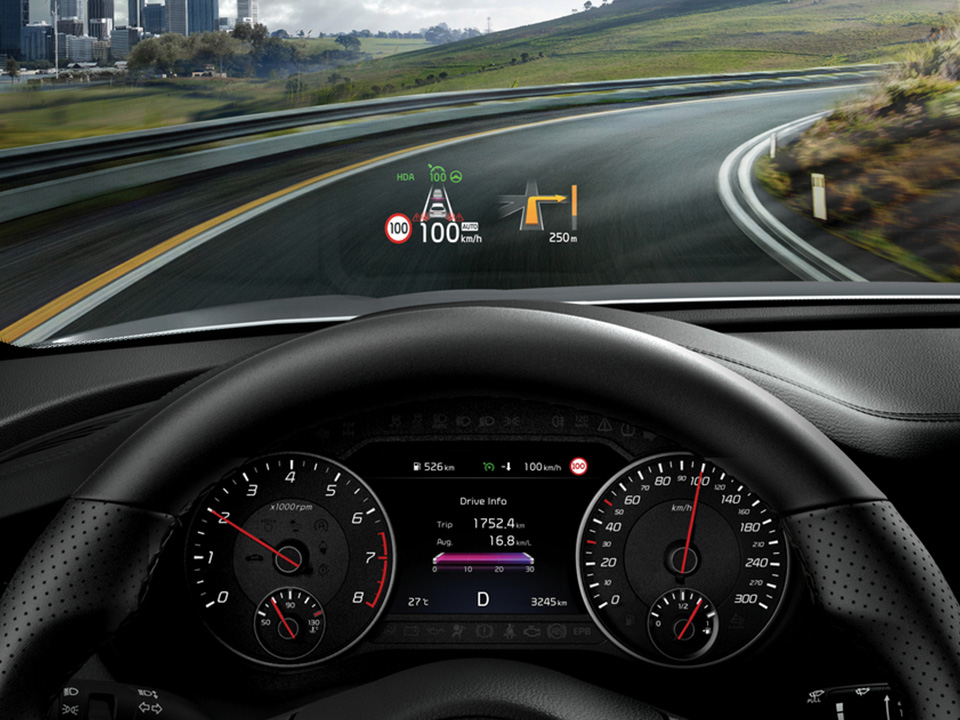 HEAD-UP display pentru confort în timpul condusului